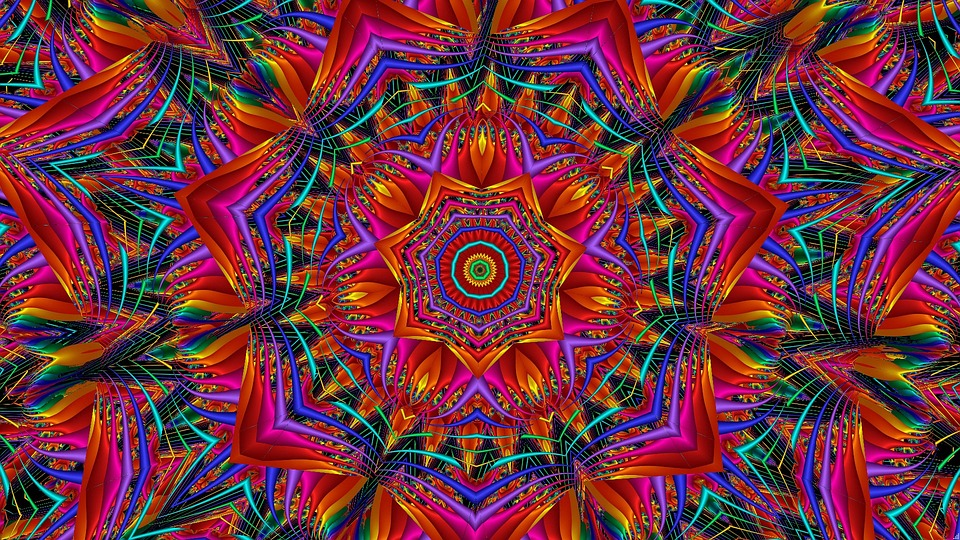 Kaleidoscope pattern hallucination effects of magic truffles