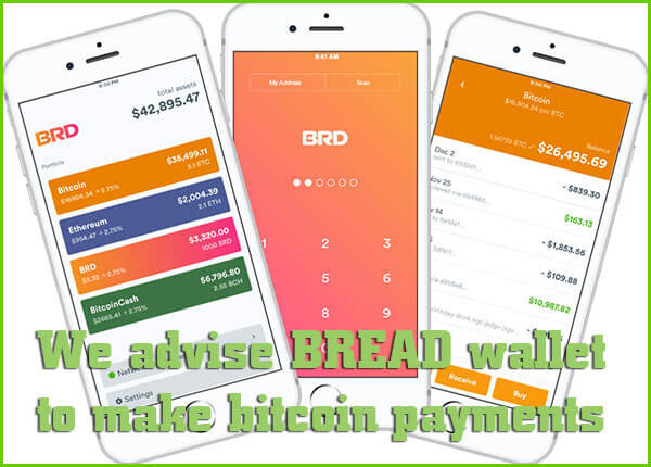 BRD wallet for bitcoin payments